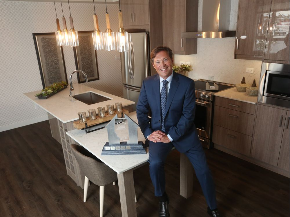 Christina Ryan, Calgary Herald Calgary, Alberta: OCTOBER 02, 2017 - Tim Logel, president and co-founder of Cardel Lifestyles poses in his winning show suite in Walden, after winning a provincial award, on October 2, 2017. (Christina Ryan/Calgary Herald) (For New Homes section story by ) Trax# 000